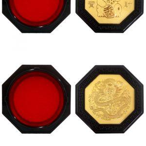 天成 金鉑 乾隆八角印泥 (中)( 75×75mm)