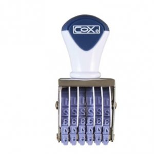 COX 5號字六連 號碼印 NO.5-6 (字高3.4mm)