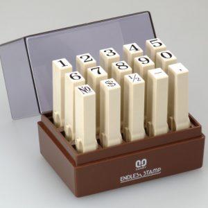 SANBY 日本原裝進口 數字1號 連結章 (明朝體) (一般橡皮印面) 8mm (EN-S1) (15入/組)