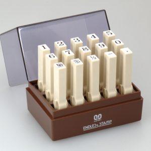 SANBY 日本原裝進口 數字2號 連結章 (明朝體) (一般橡皮印面) 6mm (EN-S2) (15入/組)