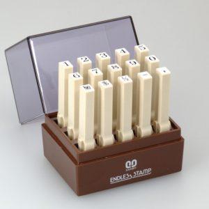 SANBY 日本原裝進口 數字3號 連結章 (明朝體) (一般橡皮印面) 5mm (EN-S3) (15入/組)