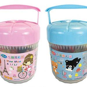 三隻小熊 15色四輪置物箱彩泥 (特價79元)
