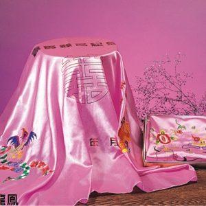 宏吉 繡花 簽名綢 (大)(鴛鴦/龍鳳) (70X90cm)
