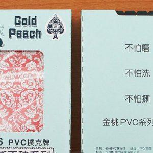 金桃 PVC撕不破撲克牌 (12副入/1打)
