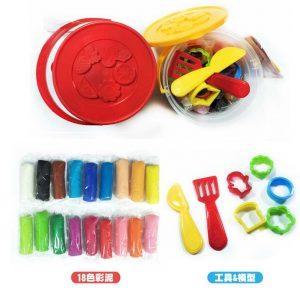 新全 18色DIY小麥彩泥組 (安全無毒) 附工具 7R450542